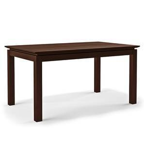 Diner 6 Seater Dining Table (Dark Walnut Finish) by Urban Ladder - -