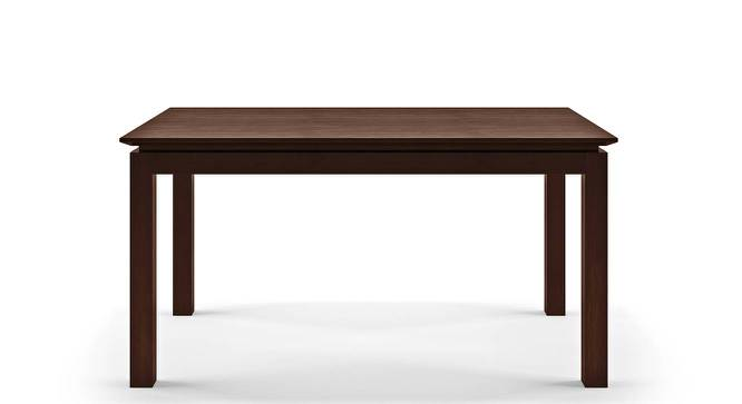 Diner 6 Seater Dining Table (Dark Walnut Finish) by Urban Ladder - Front View -