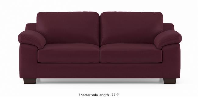 Esquel Leatherette Sofa (Burgundy) (3-seater Custom Set - Sofas, None Standard Set - Sofas, Burgundy, Leatherette Sofa Material, Regular Sofa Size, Regular Sofa Type)