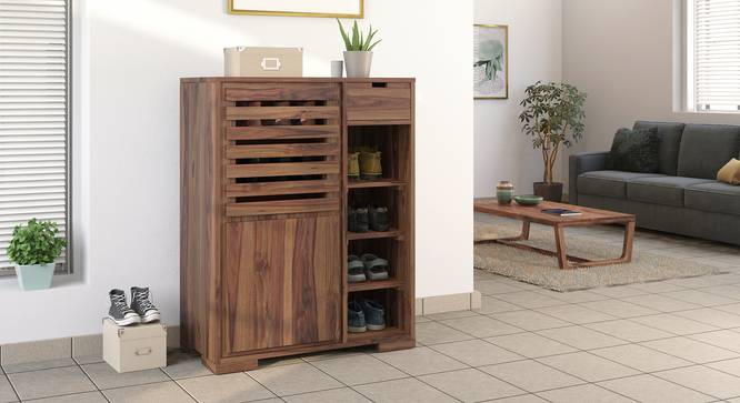Madden Shoe Cabinet (Teak Finish) by Urban Ladder - Design 1 Full View - 332552