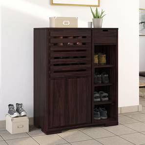Madden Shoe Cabinet (Mahogany Finish) by Urban Ladder - Design 1 Full View - 332560