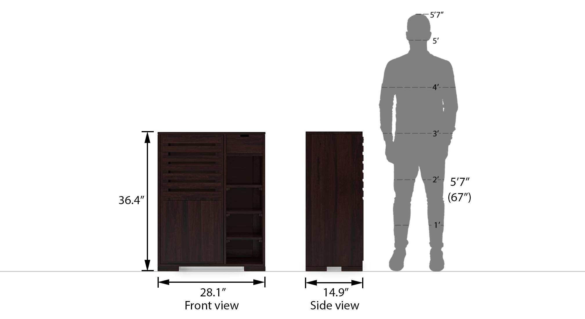 Madden shoe cabinet mahogany 14