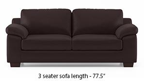 Esquel Leatherette Sofa (Chocolate)
