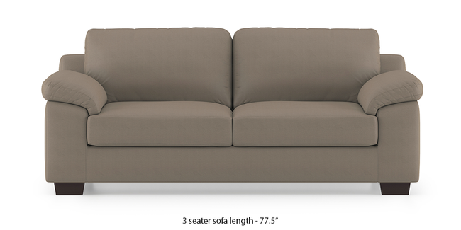 Esquel Leatherette Sofa (Cappuccino) (1-seater Custom Set - Sofas, None Standard Set - Sofas, Cappuccino, Leatherette Sofa Material, Regular Sofa Size, Regular Sofa Type)