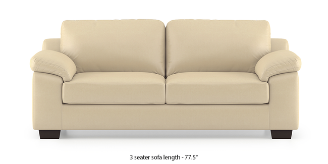Esquel Leatherette Sofa (Cream) (Cream, 2-seater Custom Set - Sofas, None Standard Set - Sofas, Leatherette Sofa Material, Regular Sofa Size, Regular Sofa Type)