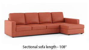 Apollo Leatherette Sectional Sofa (Tan)