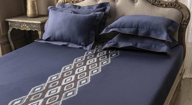 Alex Bedsheet Set (Blue, King Size) by Urban Ladder - Design 1 Full View - 332730