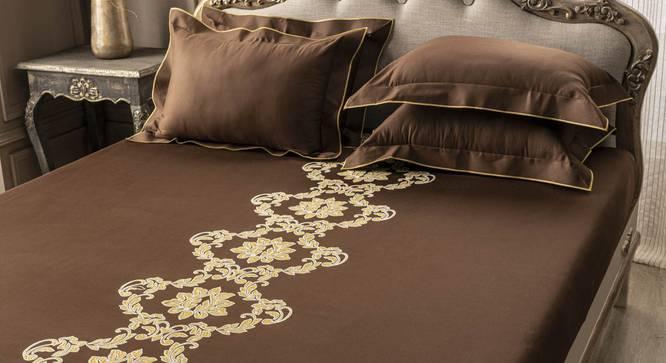 Anthony Bedsheet Set (Brown, King Size) by Urban Ladder - Design 1 Full View - 332760