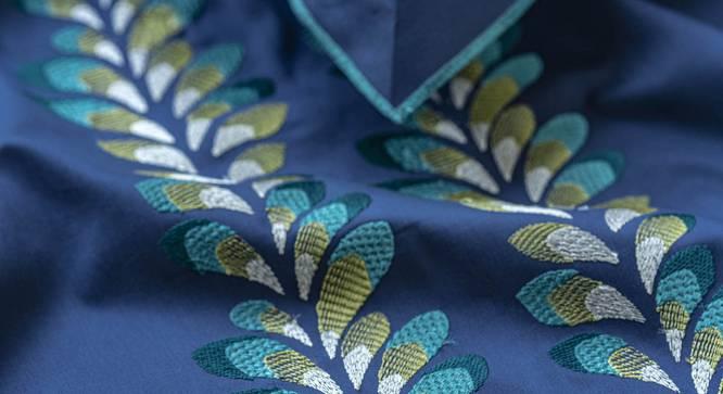 Nori Bedsheet Set (Blue, King Size) by Urban Ladder - Front View Design 1 - 332767