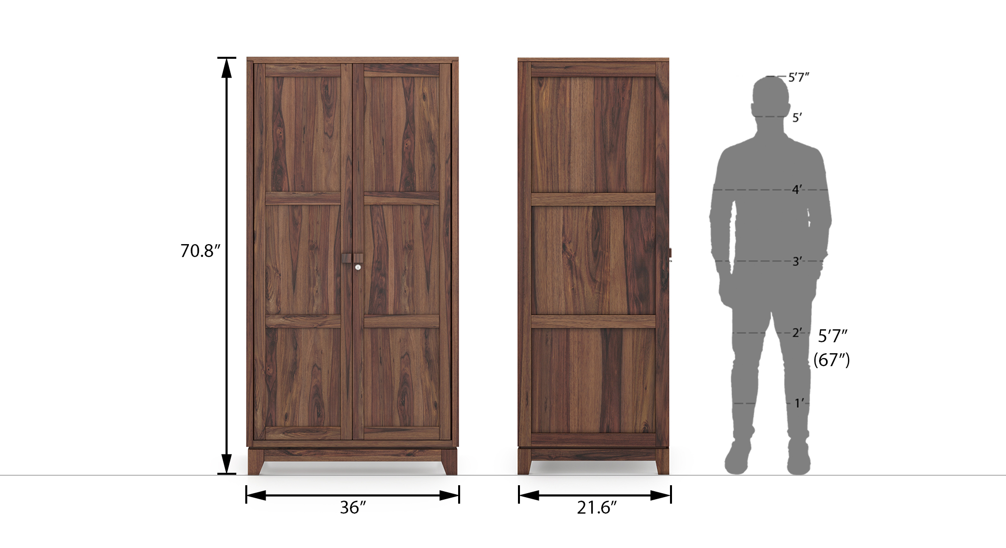 Magellan wardrobe finish teak 20