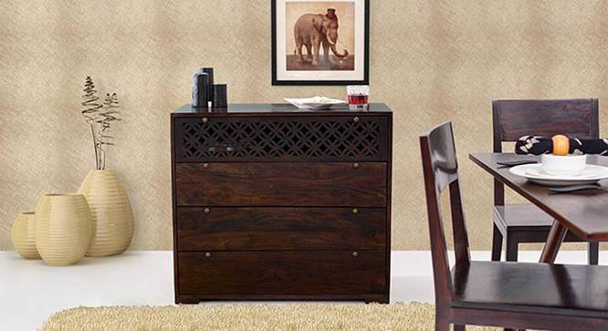 Alaca Chest Of Four Drawers (Mahogany Finish) by Urban Ladder - Design 1 Full View - 332785