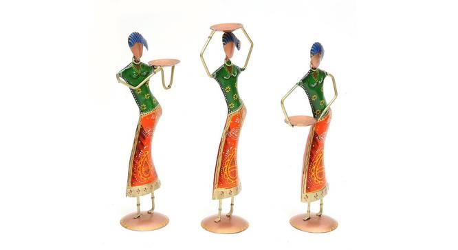 Ann Figurine Set of 3 (Green) by Urban Ladder - Cross View Design 1 - 332889