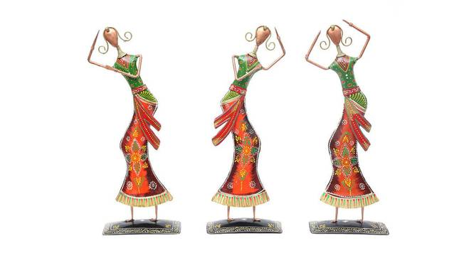 Benito Figurine Set of 3 (Copper) by Urban Ladder - Front View Design 1 - 332902