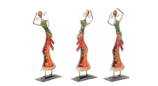 Benito Figurine Set of 3 (Copper) by Urban Ladder - Cross View Design 1 - 332903