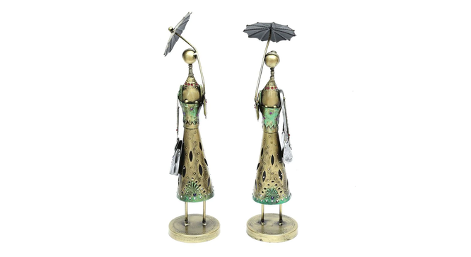 Farzan Figurine Set of 2 (Brown) by Urban Ladder - Front View Design 1 - 332978