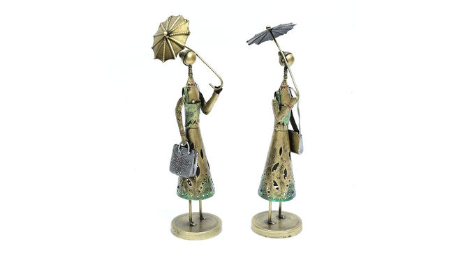 Farzan Figurine Set of 2 (Brown) by Urban Ladder - Cross View Design 1 - 332979