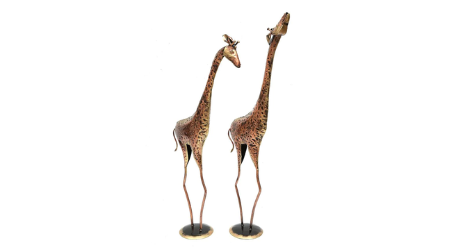 Stevie Figurine Set of 2 (Brown) by Urban Ladder - Cross View Design 1 - 333205
