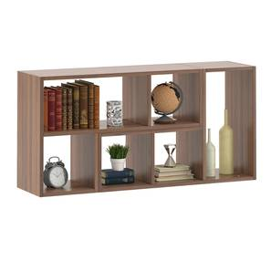 Hayden Display Shelf (35-book capacity) (Classic Walnut Finish) by Urban Ladder - Design 1 Storage Image - 333223