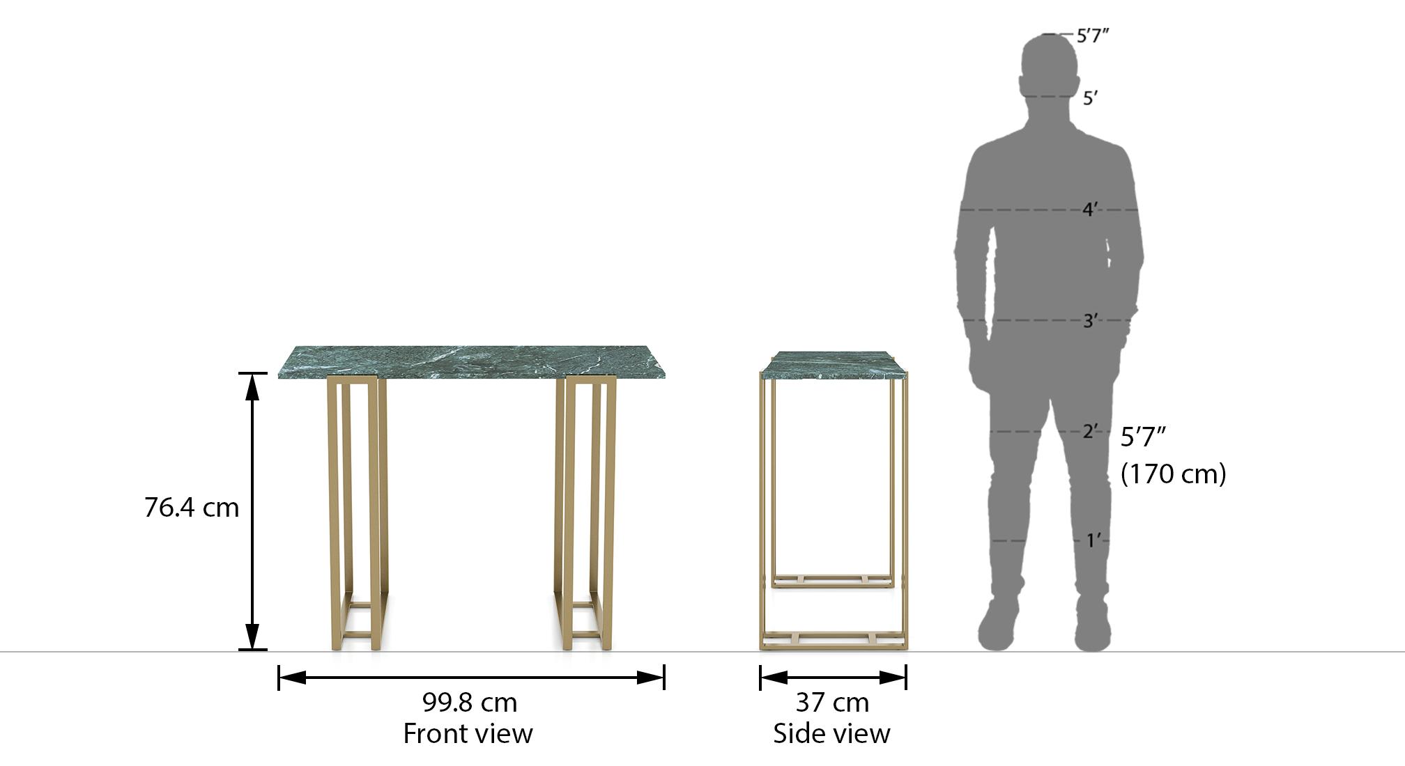 Osiris console table colour green dim3