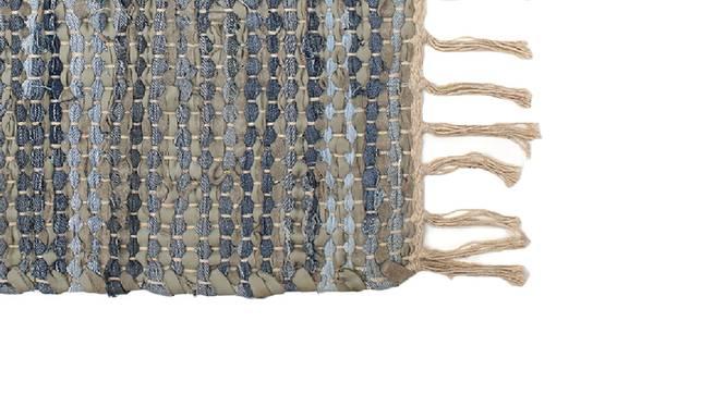 Mahogany Floor Mat (Blue) by Urban Ladder - Design 1 Close View - 333248