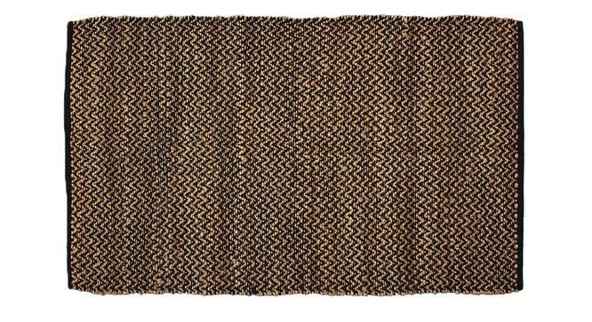 Seashell Floor Mat (Black) by Urban Ladder - Front View Design 1 - 333279