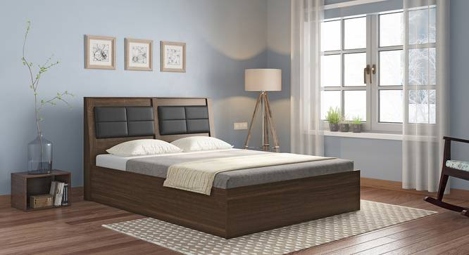 Pico Bed (Queen Bed Size, Californian Walnut Finish) by Urban Ladder - Full View Design 1 - 333331