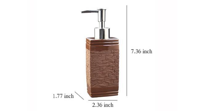 Leanora Soap Dispenser (Brown) by Urban Ladder - Design 1 Dimension - 333480