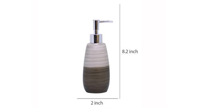 Naiomi Soap Dispenser (Brown) by Urban Ladder - Design 1 Dimension - 333605