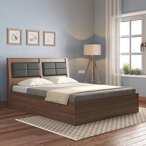 Pico Bed (Queen Bed Size, Classic Walnut Finish) by Urban Ladder - Full View Design 1 - 329390