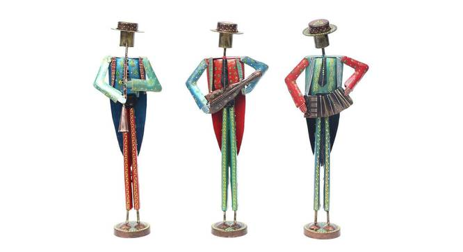 Liu Figurine Set of 3 (Brown) by Urban Ladder - Front View Design 1 - 333777