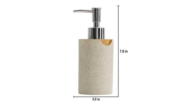 Ivo Soap Dispenser (Off White) by Urban Ladder - Design 1 Dimension - 333836