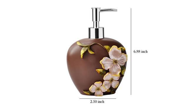 Kari Soap Dispenser (Brown) by Urban Ladder - Design 1 Dimension - 333881