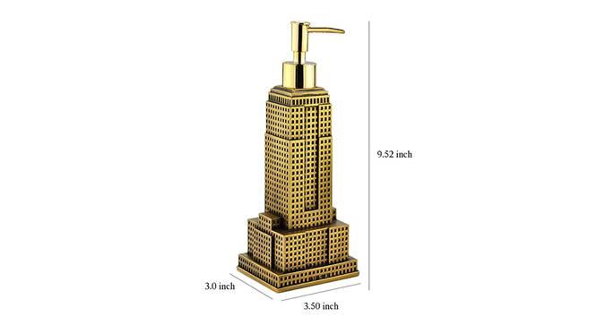 Nikita Soap Dispenser (Gold) by Urban Ladder - Design 1 Dimension - 333940