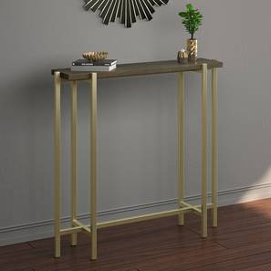 Cornille console table walnut finish lp