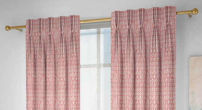 """Arygyle Door Curtains - Set Of 2 (Pink, 112 x 274 cm  (44"""" x 108"""") Curtain Size) by Urban Ladder - Design 1 Full View - 334010"""
