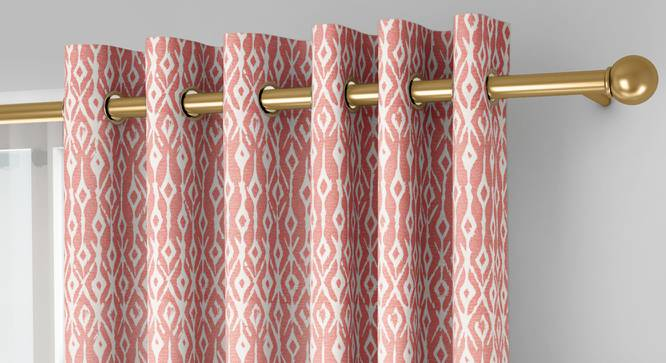 """Arygyle Window Curtains - Set Of 2 (Pink, 132 x 152 cm  (52"""" x 60"""") Curtain Size, Eyelet Pleat) by Urban Ladder - Front View Design 1 - 334135"""