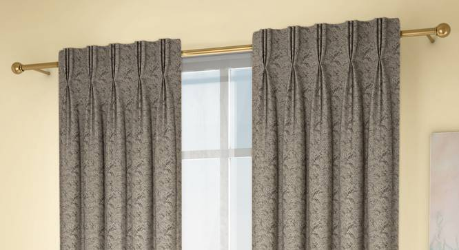 "Honeycomb Window Curtains - Set Of 2 (Green, 71 x 152 cm (28""x60"") Curtain Size, American Pleat) by Urban Ladder - Design 1 Full View - 334493"