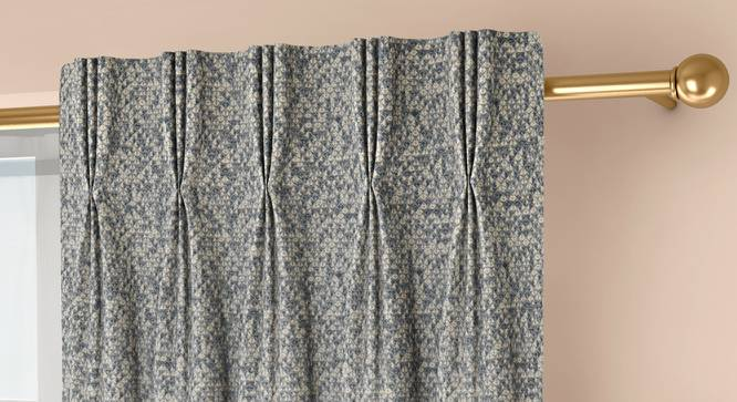 """Medallion Door Curtains - Set Of 2 (Blue, 71 x 213 cm (28""""x84"""")  Curtain Size, American Pleat) by Urban Ladder - Front View Design 1 - 334603"""