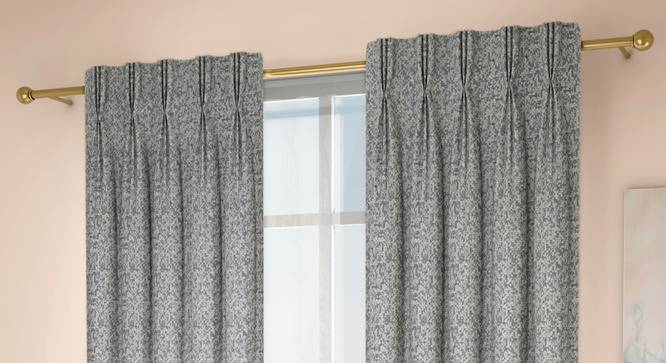 """Medallion Window Curtains - Set Of 2 (Blue, 71 x 152 cm (28""""x60"""") Curtain Size, American Pleat) by Urban Ladder - Design 1 Full View - 334690"""