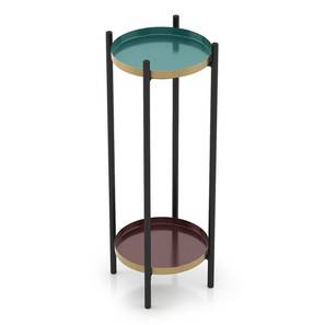 Amarine side table turquoise brown lp1