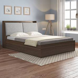 Tyra Storage Bed (Queen Bed Size, Box Storage Type, Californian Walnut Finish) by Urban Ladder - Design 1 Full View - 334804