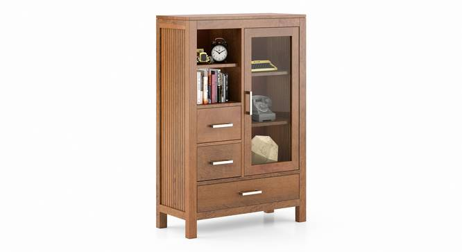 Carnegie Cabinet (Amber Walnut Finish) by Urban Ladder - Front View Design 1 - 334814
