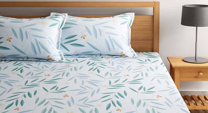 Hale Bedsheet Set (White, Queen Size) by Urban Ladder - Design 1 Full View - 334841