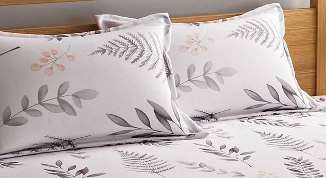 Hart Bedsheet Set (White, Queen Size) by Urban Ladder - Front View Design 1 - 334844