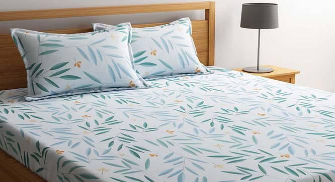 Hale Bedsheet Set (White, Queen Size) by Urban Ladder - Cross View Design 1 - 334851