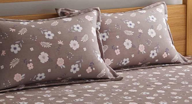 Wilson Bedsheet Set (Brown, Queen Size) by Urban Ladder - Front View Design 1 - 334882