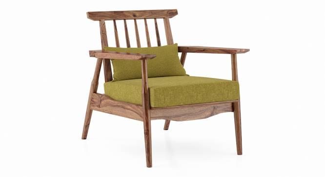 Ikeda Armchair (Teak Finish, Olive Green) by Urban Ladder - Cross View Design 1 - 334946
