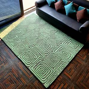 "Alani Carpet (Rectangle Carpet Shape, 150 x 210 cm  (59"" x 83"") Carpet Size, Seige Green) by Urban Ladder - Front View Design 1 - 335054"
