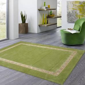 "Amiyah Rug (Rectangle Carpet Shape, 140 x 201 cm  (55"" x 79"") Carpet Size, Grass Green) by Urban Ladder - Front View Design 1 - 334984"