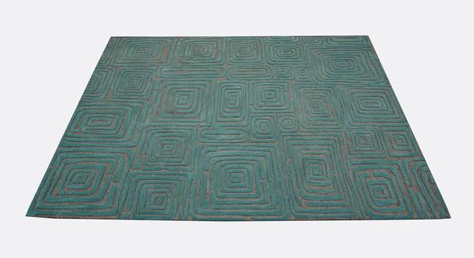 "Alani Carpet (Rectangle Carpet Shape, 150 x 210 cm  (59"" x 83"") Carpet Size, Teal Blue) by Urban Ladder - Design 1 Half View - 335055"